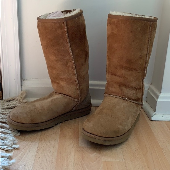UGG Shoes | Tan Tall Boots Size 5